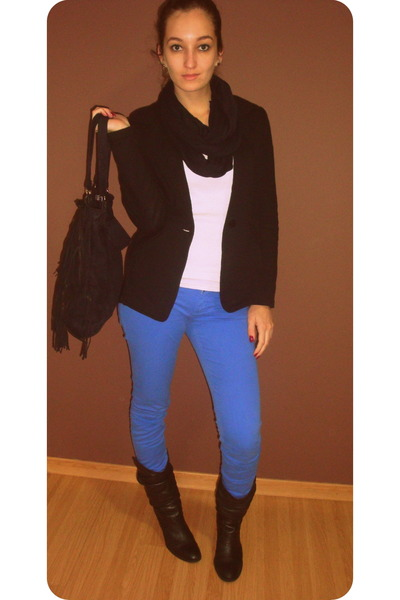 "Blue Pants, Black Boots, Black Blazers, White Ts, Shirts | ""Blue ..."