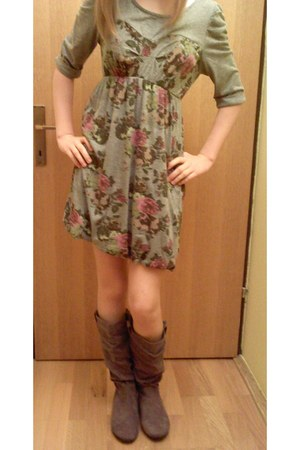 Tally Weijl boots - Orsay dress