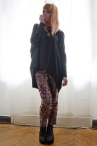 gold devil horns hair accessory - tapestry pants
