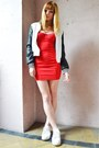 Red-american-apparel-dress