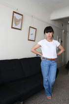 Old Navy shirt - paper denim and cloth jeans - vintage belt