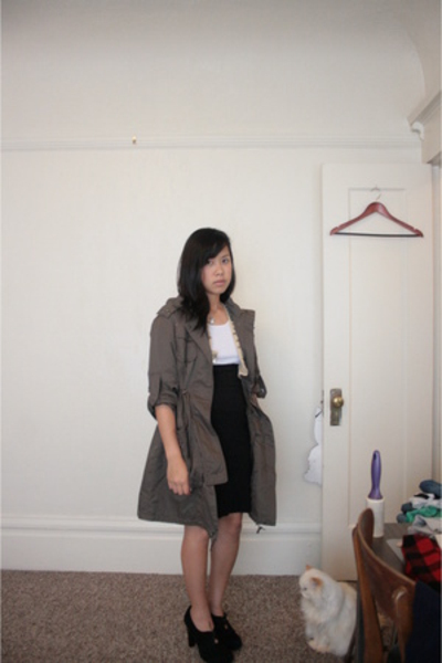 Kenneth Cole jacket - Gap top - American Apparel skirt