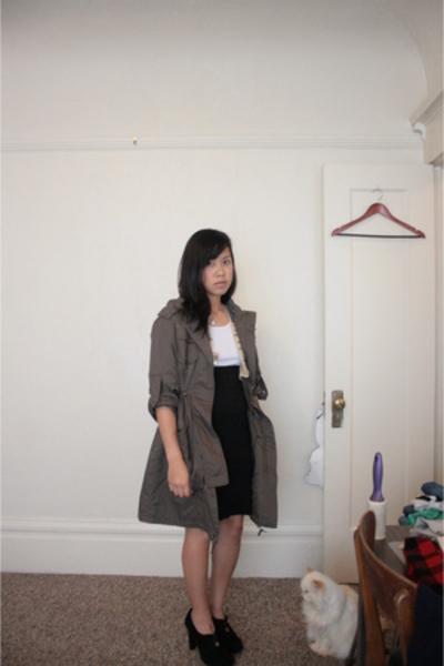 Kenneth Cole jacket - Gap top - American Apparel skirt