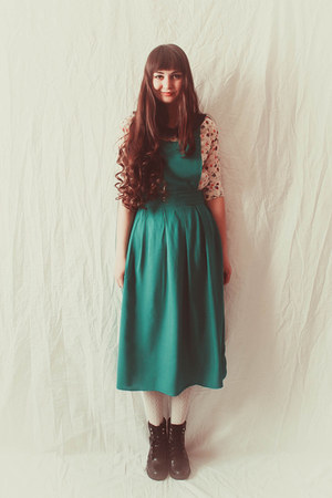 green DIY dress