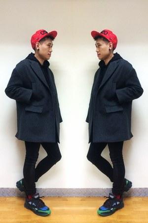 from Korea coat - skinny jenas H&M jeans - Kenzo hat
