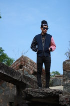 Reclaimed vintage jacket - TUK shoes - Vintage band Tee t-shirt - H&M pants