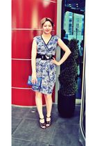 blue Sinequanone dress - blue Topshop purse - black Giuseppe Zanotti - black Arm
