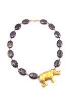 Pyrite Rhino Statement Necklace