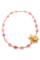 bee pink quartz Manic Trout necklace