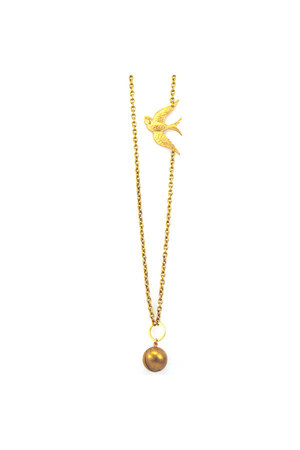 locket bird Manic Trout necklace