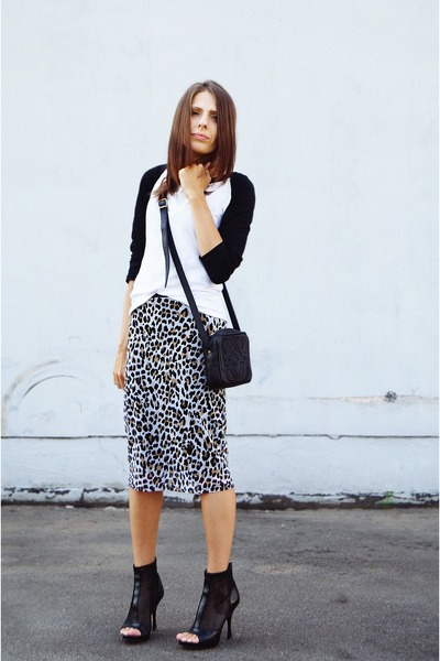 oodji skirt - loewe bag - Respect Yourself heels - asos t-shirt