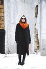Black-leather-vagabond-boots-black-wrap-flo-jo-coat