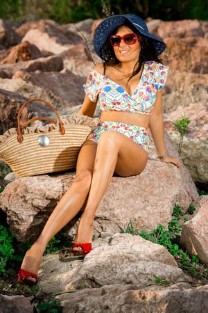 light yellow Anna Carla Beachwear swimwear - red Dolce & Gabbana shoes
