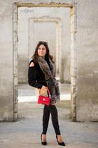 black Primadonna shoes - black Calzedonia jeans - black Pinko jacket