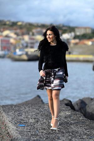 black Pinko jacket - white Gianvito Rossi shoes - black Pinko bag