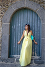Yellow-romwe-dress