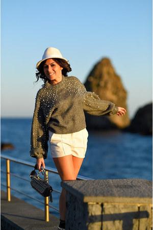 silver Zara sweater - white Gianvito Rossi shoes