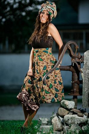 dark brown Gemelle Toscane bag - green Miu Miu shoes