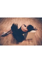 light pink Grishko shoes - black unconventional secrets bodysuit