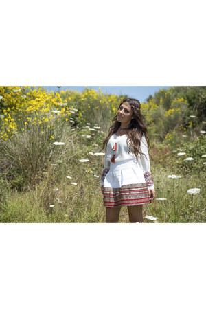 white Glamorous shirt - light brown ASH shoes - white Amuse skirt