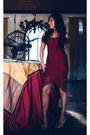 Silver-rene-caovilla-shoes-brick-red-mangano-dress