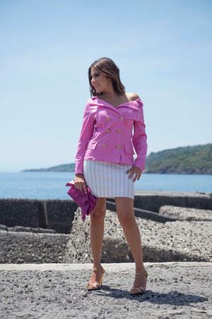bubble gum unconventional secrets jacket - hot pink Gemelle Toscane bag