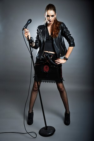 black leather River Island jacket - black Manuela Biocca skirt