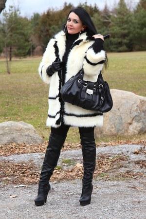 black LABELSHOEScom boots - silver LABELSHOEScom earrings - black Zara skirt