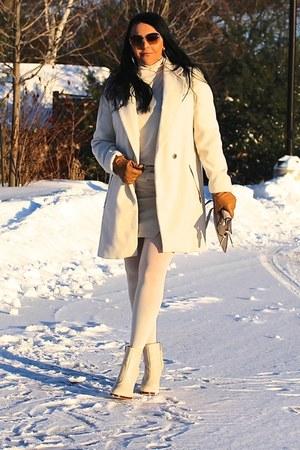 ivory Zara boots - ivory Mango sweater - ivory Mango bag