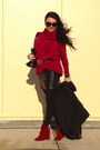 Ruby-red-boots-black-bag-black-zara-skirt-black-guess-belt