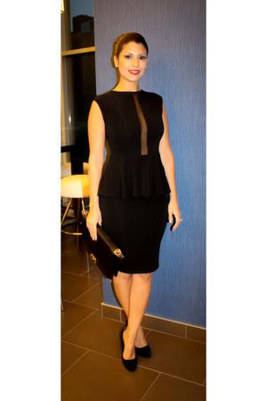 black peplum Rush Couture dress