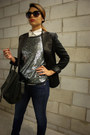 Navy-zara-jeans-charcoal-gray-bcbg-sweater-black-bcbg-blazer