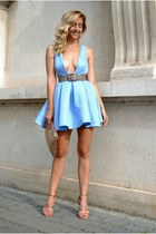 light blue Sheinside dress