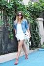 Light-blue-jacket-white-zara-shorts-black-freyrs-sunglasses