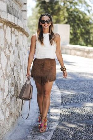 brown Michael Kors bag - black Prada sunglasses - brown Choies sandals