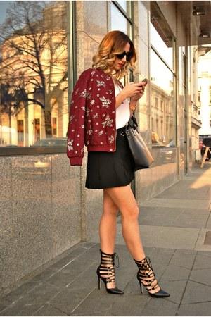 crimson Kurtman jacket - black Lovelyshoes heels