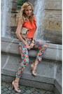 Peach-zara-bag-carrot-orange-decadance-blouse-peach-zara-sandals
