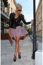 pink Cozbest skirt - black Cozbest jacket