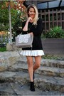 Silver-dasha-bag-white-run-skirt
