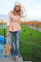 ivory Zara hat - ivory H&M blouse