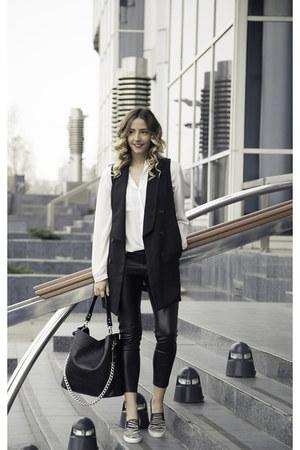 black Sheinside dress - black Sheinside pants