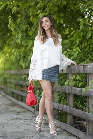 white sammydress blouse - red sammydress bag