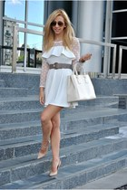 white PERSUNMALL dress - neutral Dasha heels