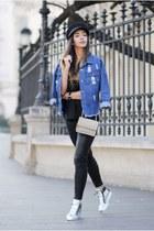 black sammydress hat - navy sammydress jacket - silver DKNY bag