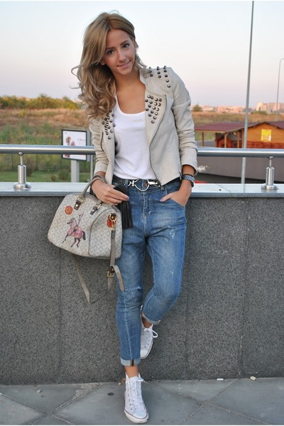 ivory OASAP jacket - ivory LaPallete bag