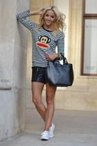 black Sheinside blouse - black Dasha bag