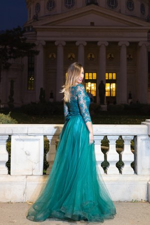 teal Raffaela Moraru dress