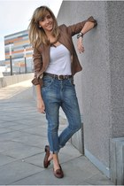 brown Guess jacket - Beshka jeans