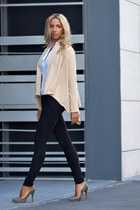 beige Raluca Martinescu blazer - navy Raluca Martinescu pants