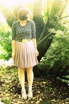 light purple thrifted skirt - periwinkle Target tights - black Target cardigan